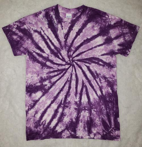 (NEW)  Purple Swirl Tie Dye   (short and long sleeve options)