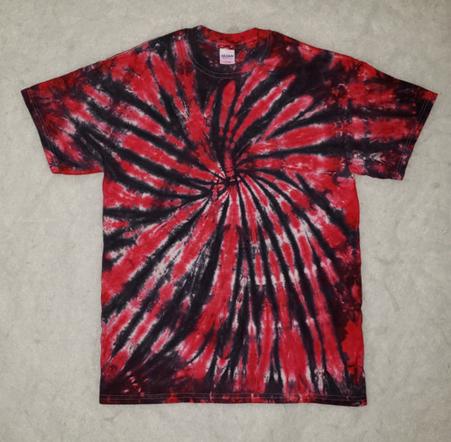 (NEW)    Red and black spider Tie Dye (short & long sleeve options)