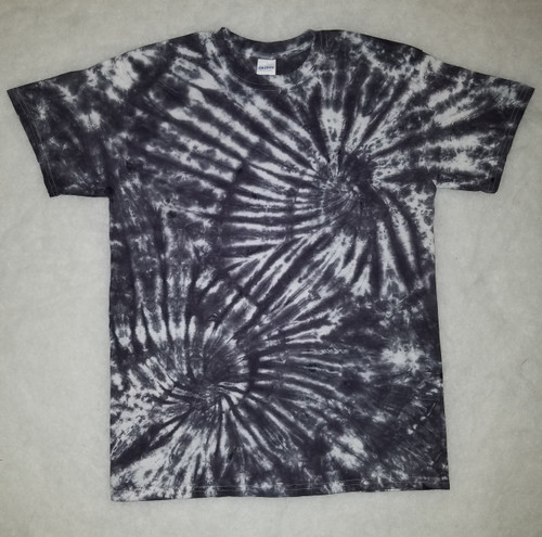 Black Double Swirl Tie Dye (short and long sleeve)