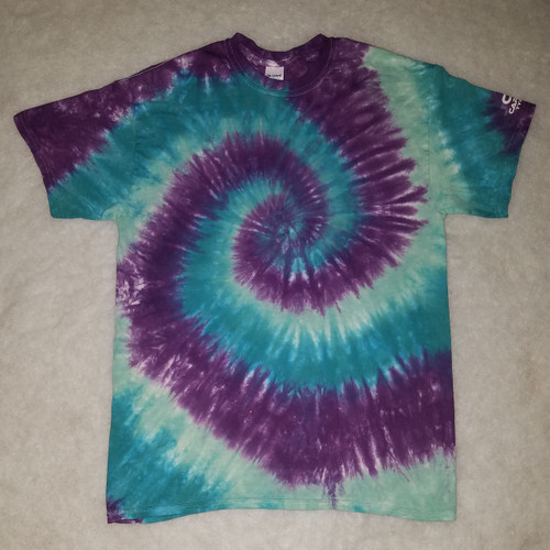 Purple Blue Blend Tie Dye (short and long sleeve options)