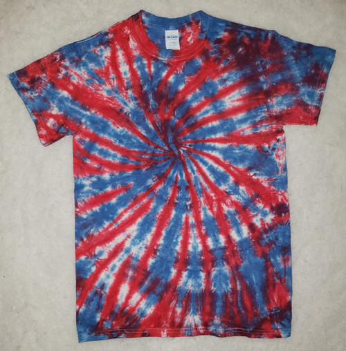 (New) Red White and blue Tie Dye  (short and long sleeve options)