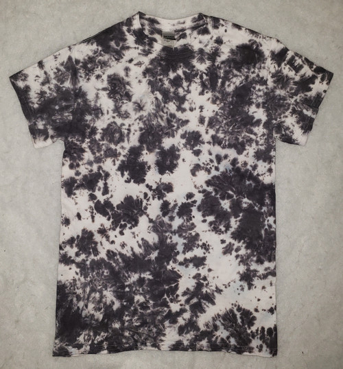 Black Crinkle Tie Dye  (short and long sleeve options)