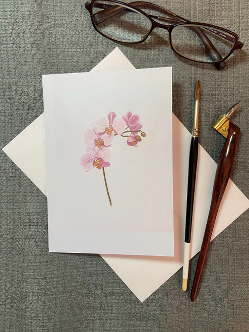Light Pink Phalaenopsis Orchid Card