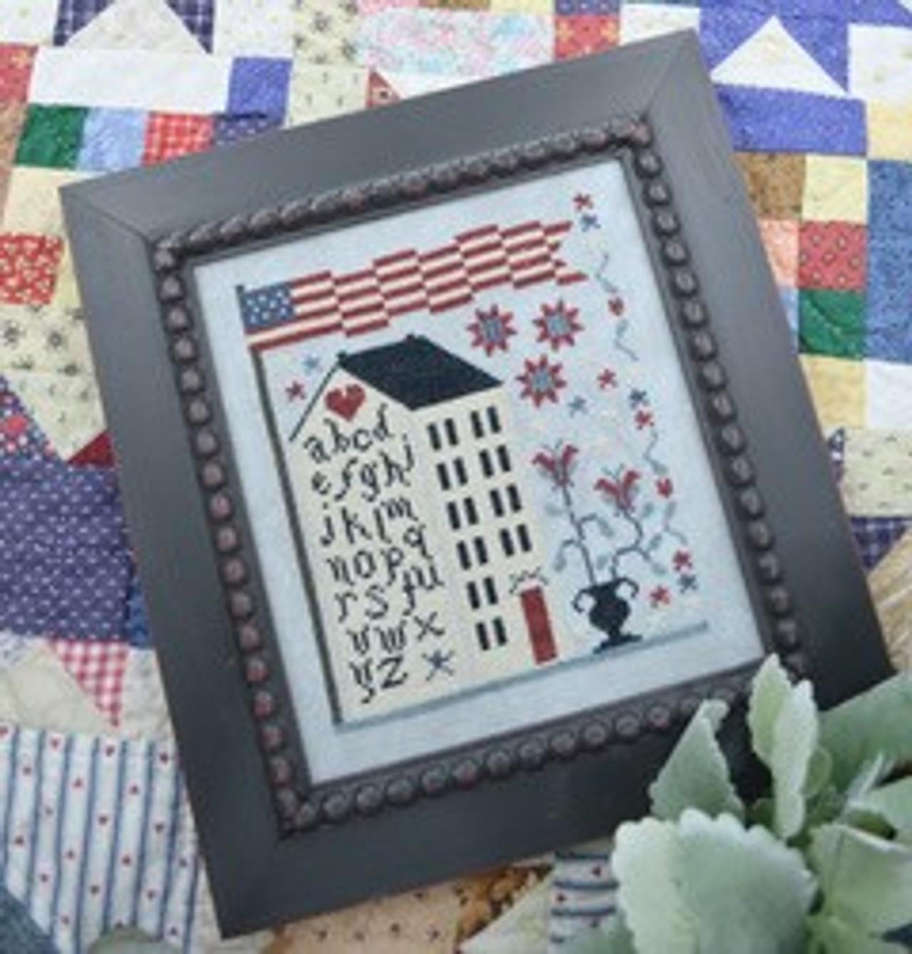 All American Finn Cross Stitch Pattern Threadwork Primitives