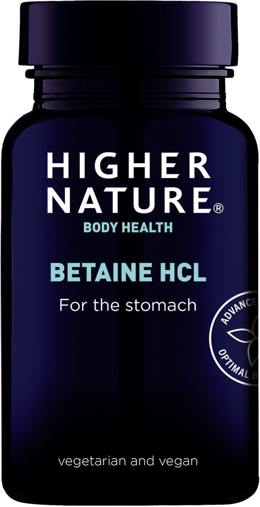 *Higher Nature Betaine HCl 90 Capsules