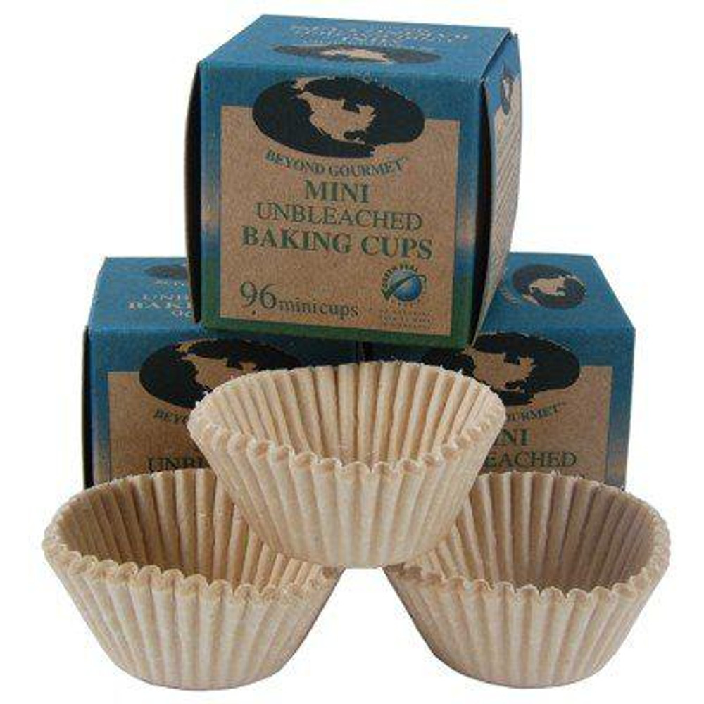 Mini unbleached Baking Cups: 96