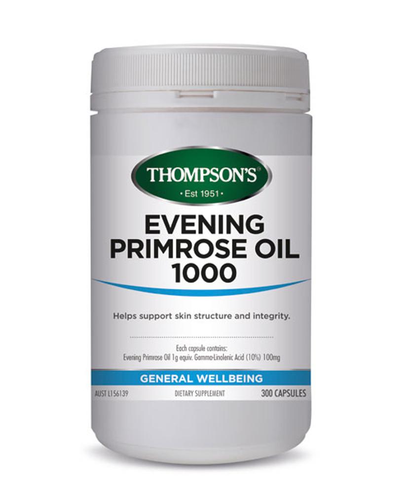 Thompsons Evening Primrose Oil: 300 Capsules -  **Expiry June 2020**