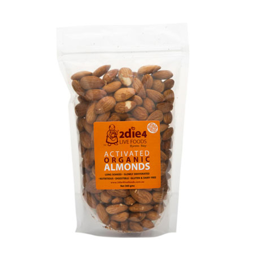ORGANIC ACTIVATED ALMONDS: 300g