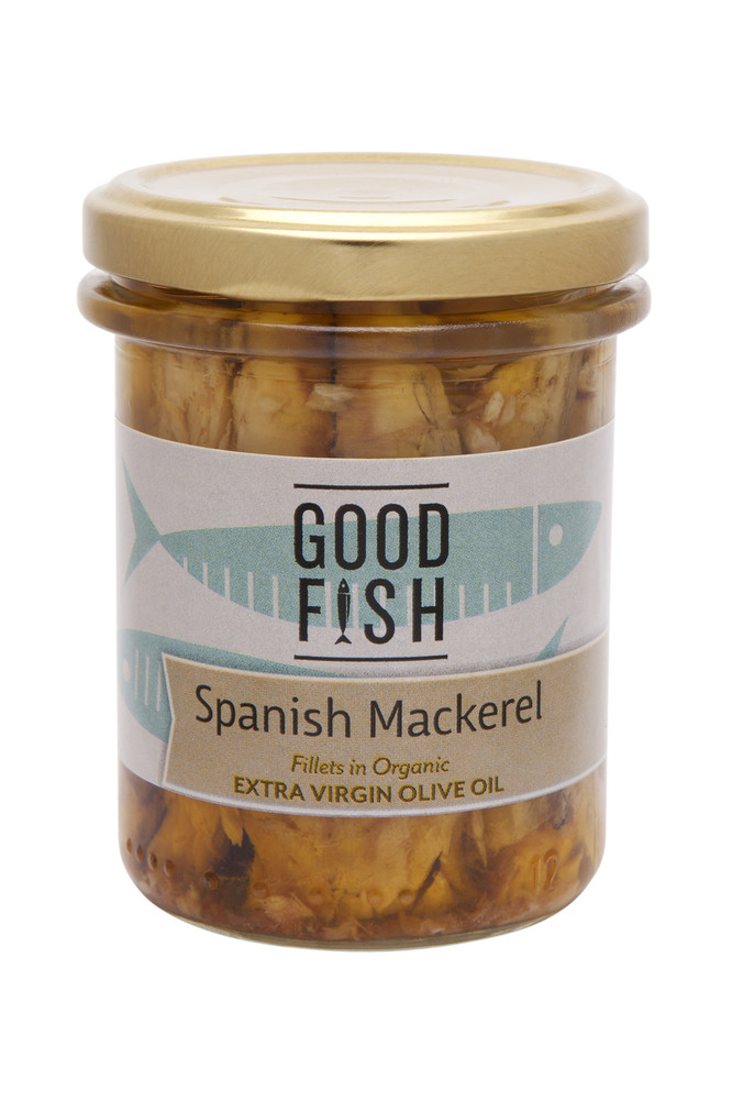 MACKEREL Fillets in Organic Extra Virgin Olive Oil 195g Glass Jar