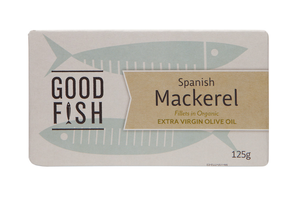 SPANISH MACKEREL Fillets in Organic Extra Virgin Olive Oil 125g CAN