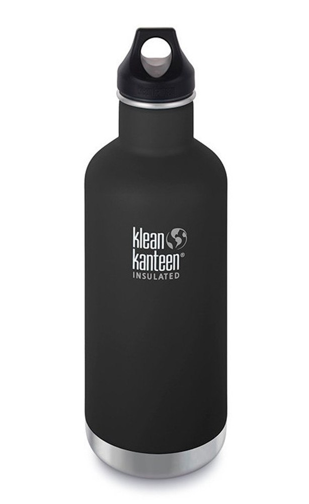 INSULATED BLACK Clasic Loop Water Bottle: 946ml (32oz)
