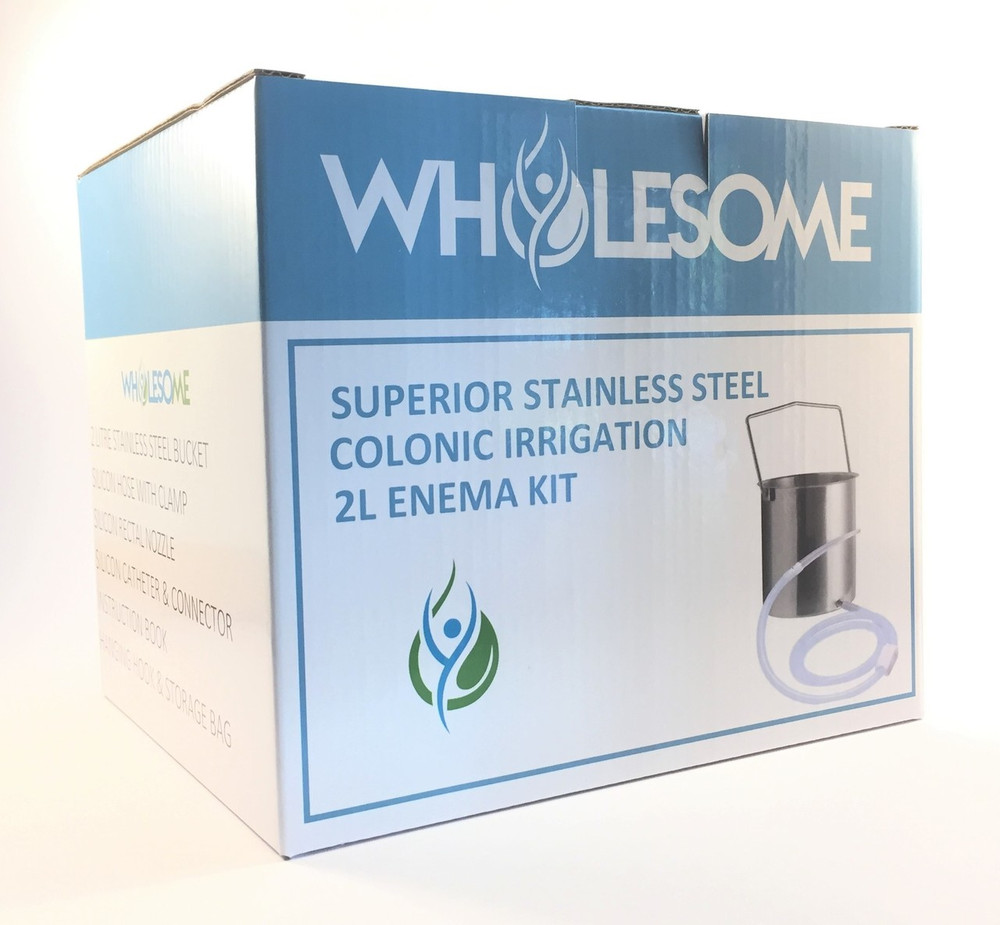 Superior Stainless Steel Enema & Colonic Irrigation Kit: 2L