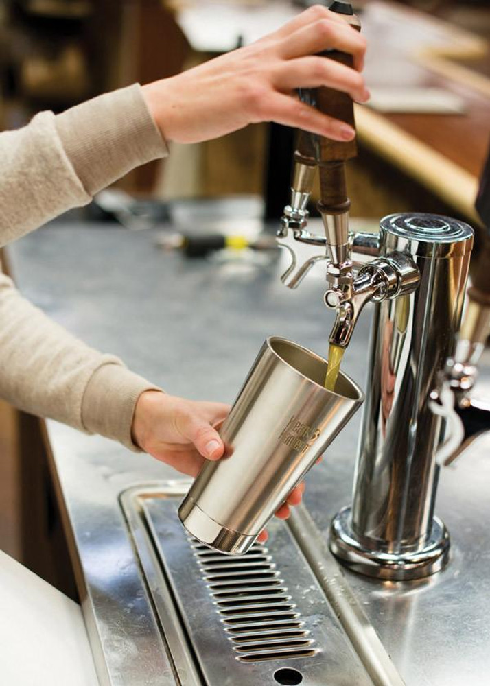 CAFE OR CHILL INSULATED TUMBLER: 473ml BRUSHED STAINLES STEEL