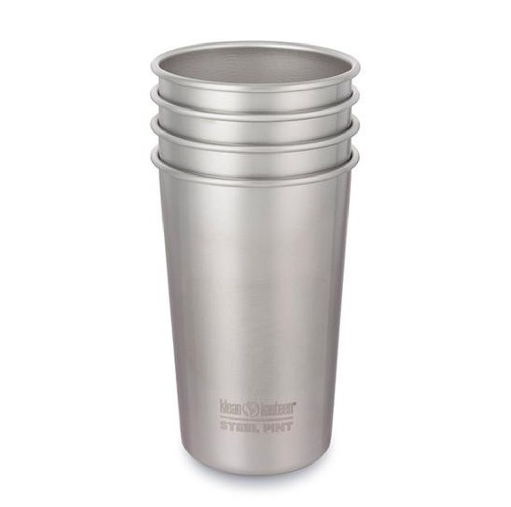 Steel Pint CUPS 16oz (473ml) - 4 Pack