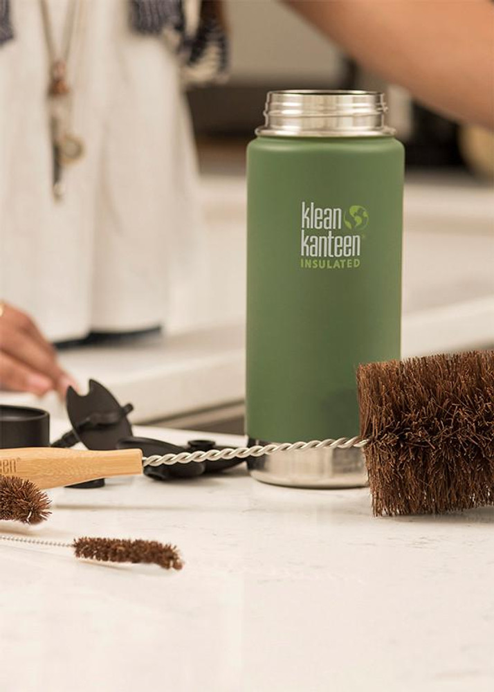 Klean Kanteen 4 Piece Bamboo & Palm Bottle Brush Set