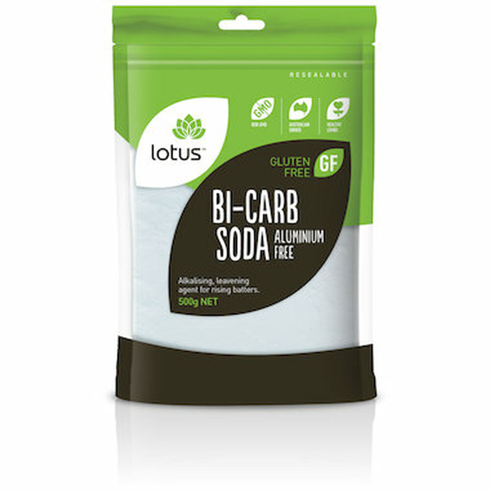 Lotus Pure Bi-carb Soda (Aluminium Free) 500g