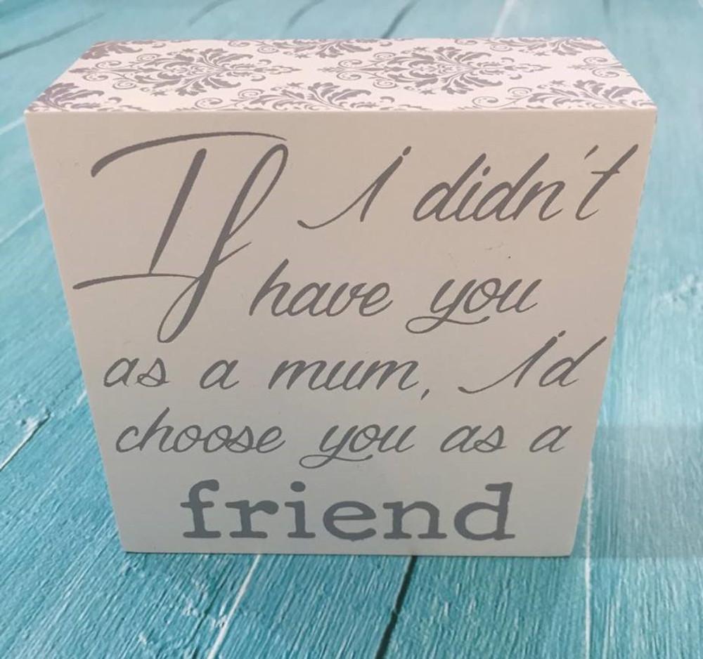 Inspirational Shelf Plaque: Love for Mum
