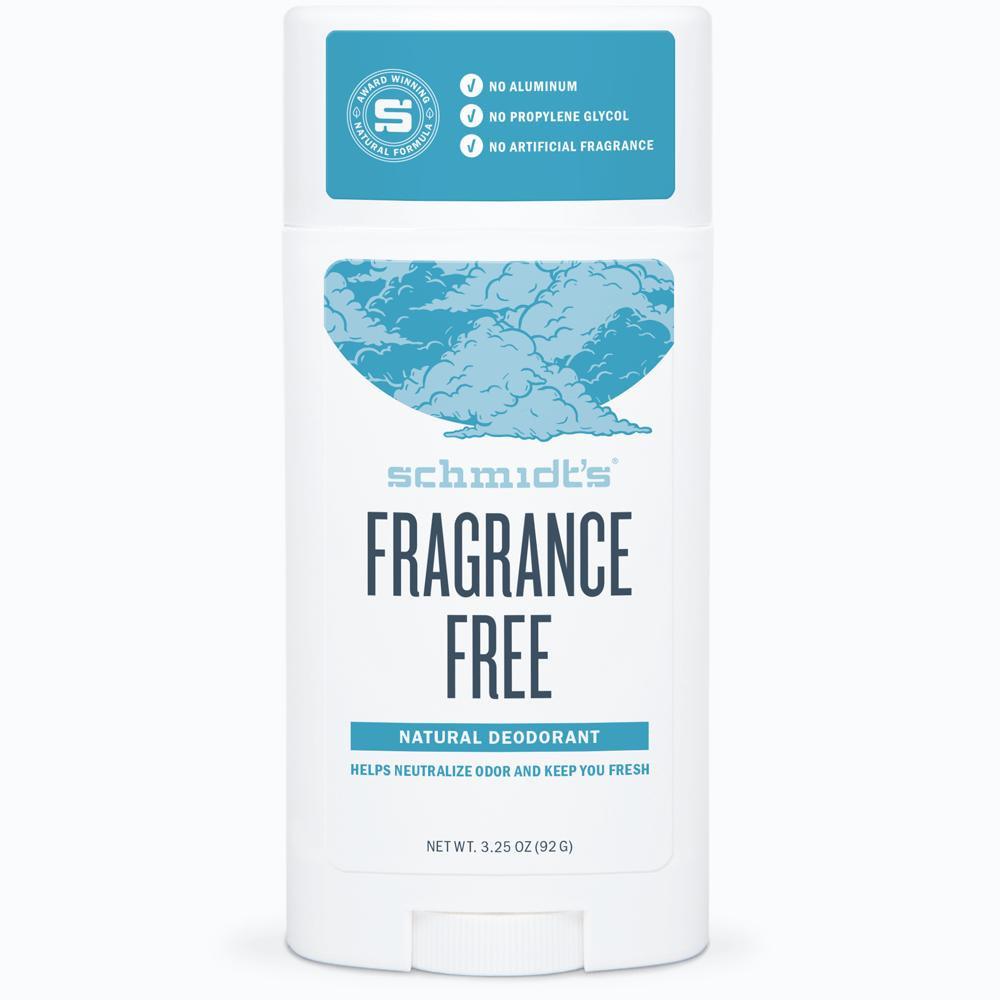 Schmidt's Fragrance Free Natural Deodurant Stick: 92g