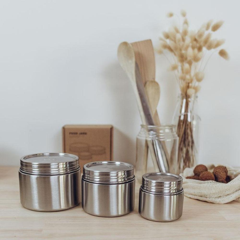 Leak-Proof Eco Food Jars: Set of three