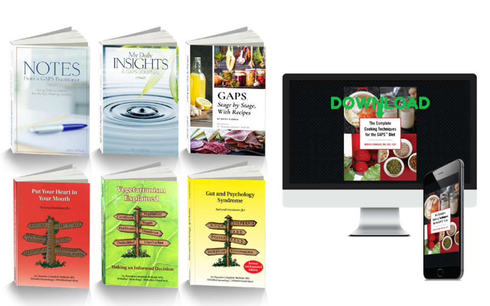 GAPS Book Bundle 10% off for GAPS Practitioners & Coaches STUDY BOOK PICKING LIST