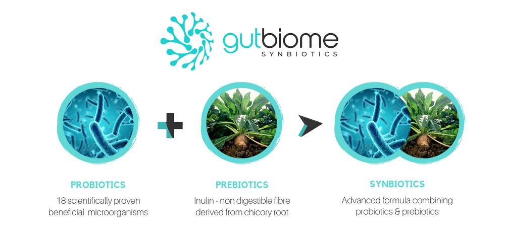 GutBiome Synbiotic 90g Powder: 20CFU
