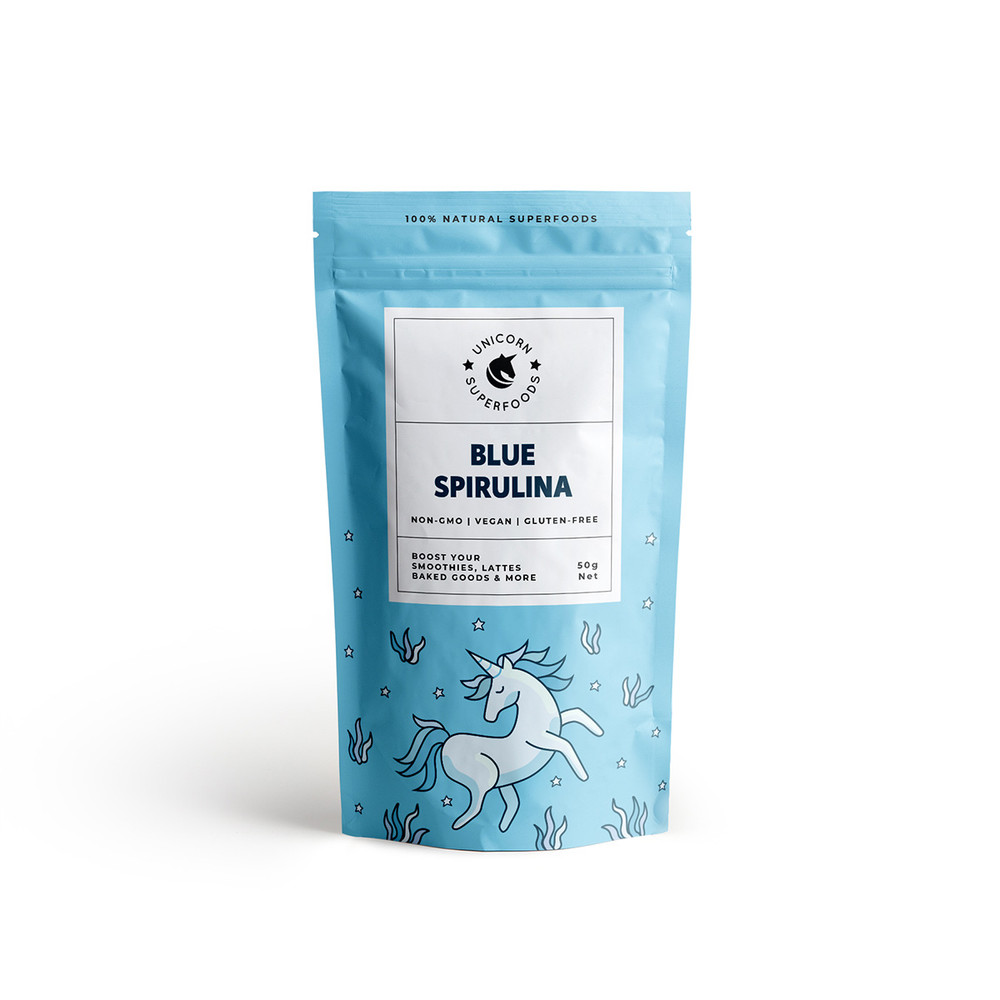 Blue Spirulina Powder - 100% Natural: 50g