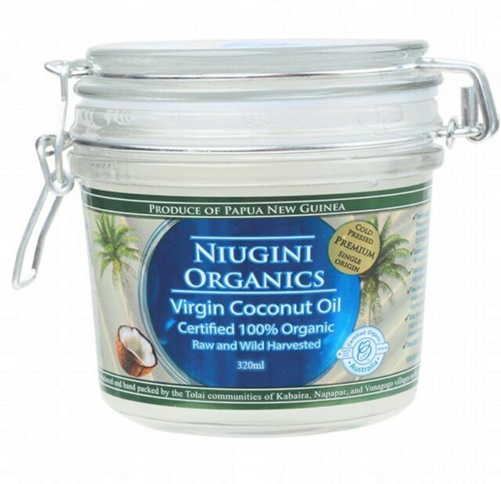 Niugini Organic Coconut Oil 320ml Extra Virgin, Cold Pressed