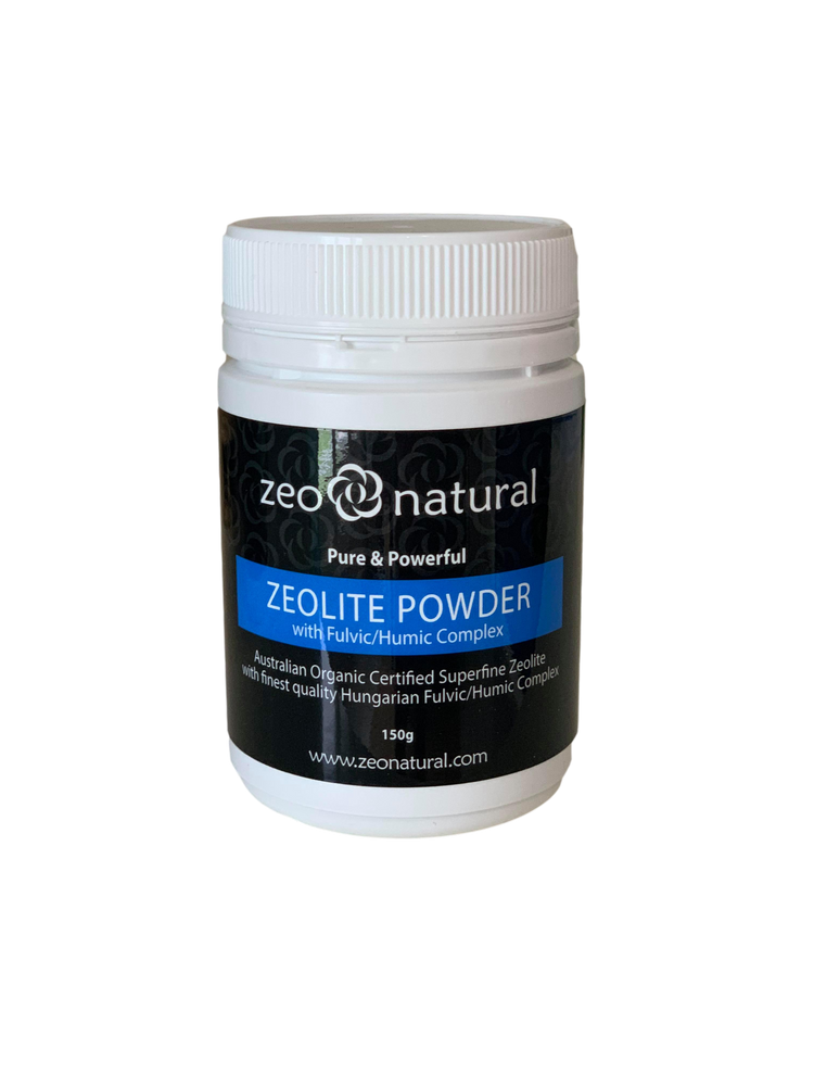 Certified Organic Activated ZEOLITE POWDER with Fulvic/Humic Complex: 150g