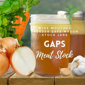Freezer Safe Mason Stock Storage Jars: SET OF 6 - VALUE PACK