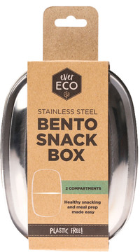 Stainless Steel Eco Lunch Box: Double compartment