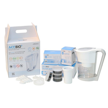 AceBio+ Water Filter Jug: 1 Litre