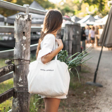 Pocket Tote Shopping Bag