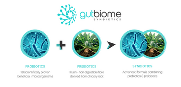 GutBiome Synbiotic 90g Powder: FAMILY 6 PACK