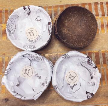 Boho Coconut 4 Bowl Set: Two Patterns