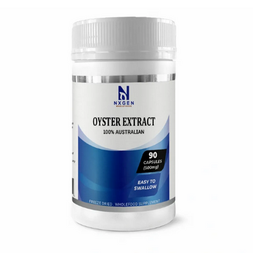 OYSTER EXTRACT CAPSULES 500MG  - Zinc Food Supplement: 90 Capsules