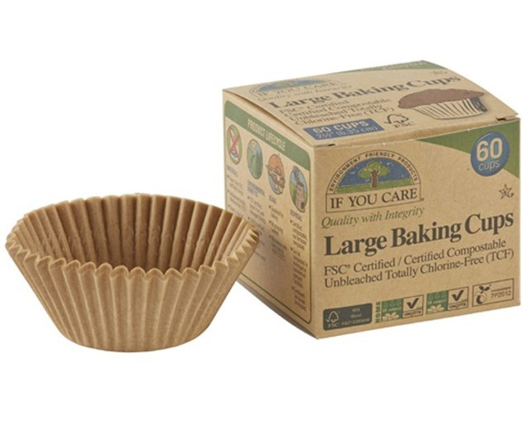 Unbleached Baking Cups Large: 60