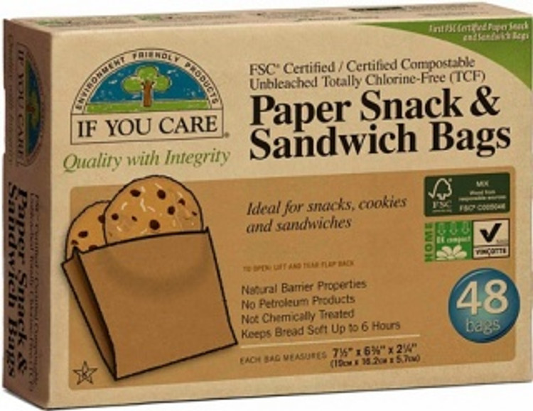 Paper Snack & Lunch Bags: 48 Bags