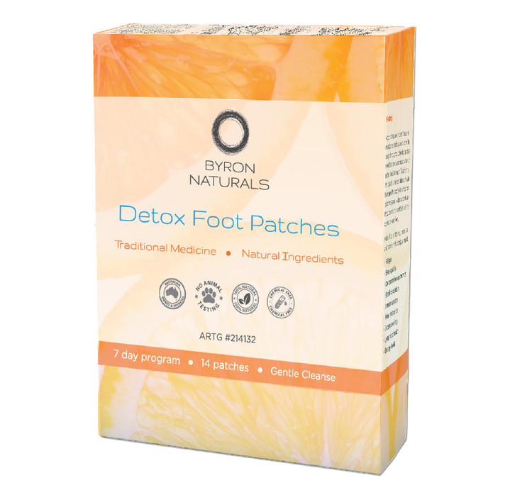 Byron Naturals Detox Foot Patches: 14 Patches (7 Pairs)