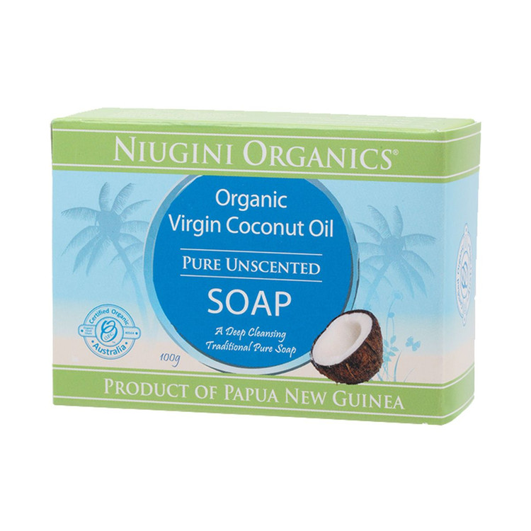 SOAP: Pure Coconut Oil Unscented 100g Bar