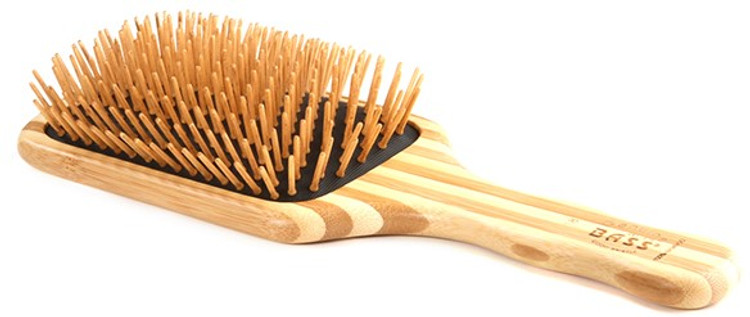 Bass Bamboo Brush: Bamboo Large Square Paddle