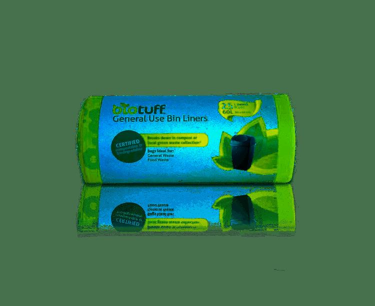 Biotuff Eco Bin Liner: 25 bags / 60L