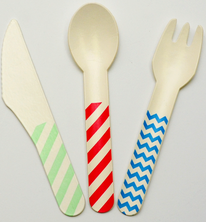Compressed Eco Friendly Cardboard Cutlery: 10 SETS x 1 teaspoon, 1 knife and 1 fork