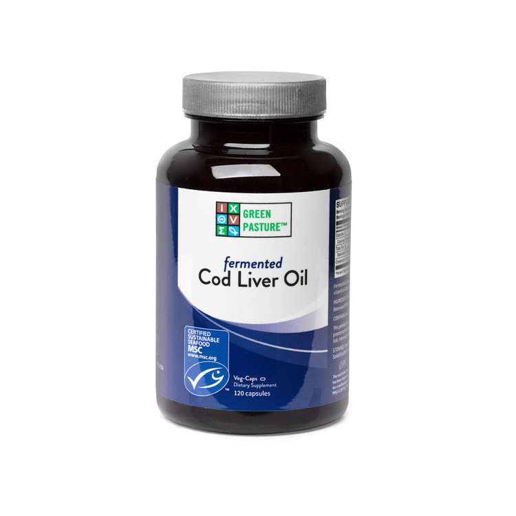 Blue Ice Fermented Cod Liver Oil: 120 Capsules