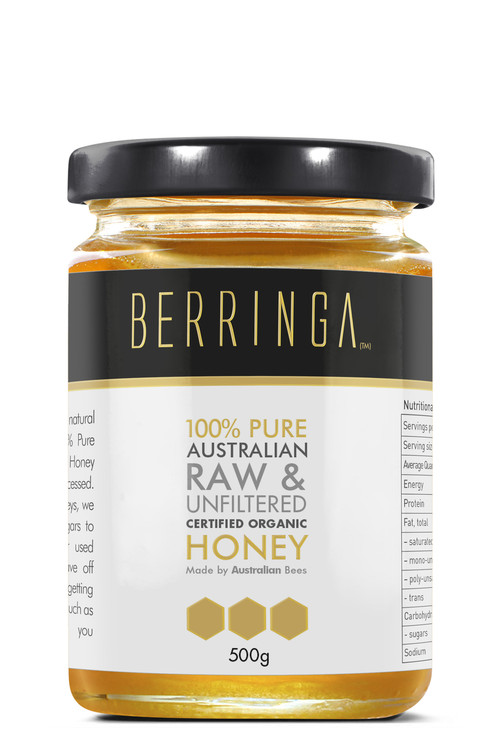Berringa Raw Organic Unfiltered Honey: 500g