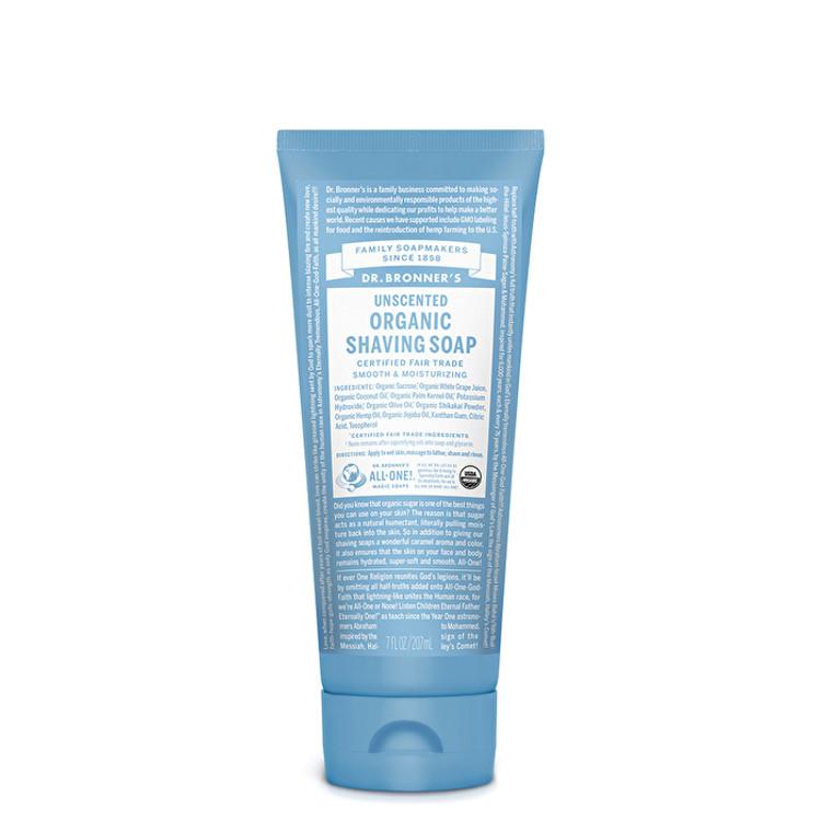 Dr Bronner's Unscented ORGANIC Shaving Soap: 207ml