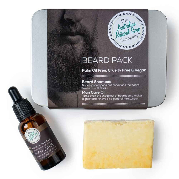 Natural Beard Care Pack: Nourishing cleansing beard oil & shampoo