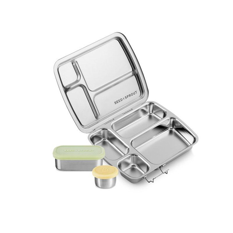 Stainless Steel Crunch Box & Leakproof Pots