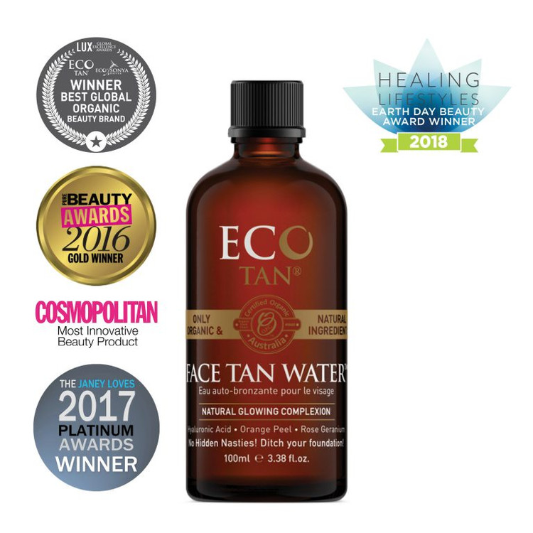 Organic Face Tan Water: 200ml Bottle