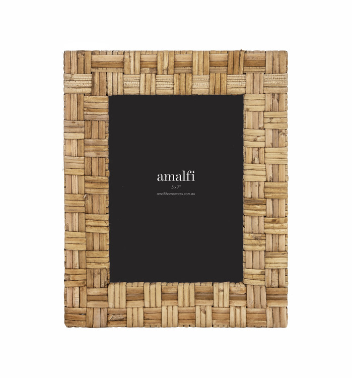 Natural Grass Photo Frame: Size 5 x 7
