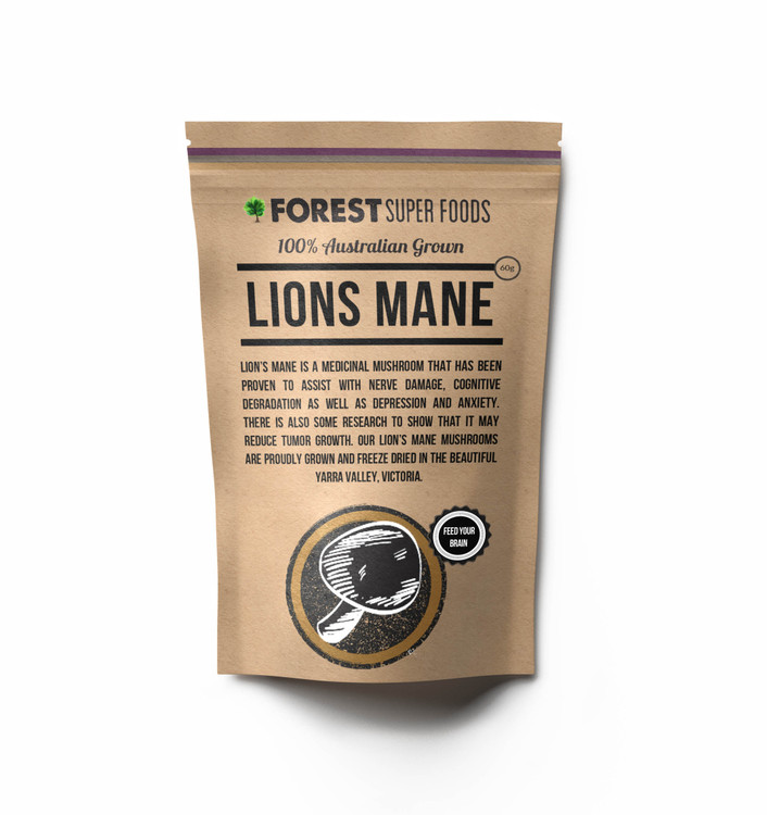 Australian Grown Lion's Mane Mushroom Powder: 60g